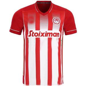 20 21 Olympiacos F.C. eve uzakta futbol gömlek 2020 2021 Olympiacos F.C. Kırmızı Futbol Formaları S-2XL Custom Made