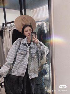 2020 women denim jacket classic new designer denim jacket Short front and long back High quality soft nylon fabric with two needles jackets