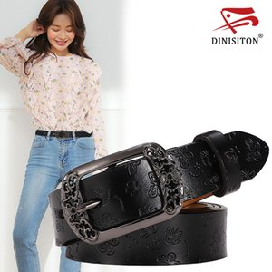 DINISITON Women's Belt Genuine Leather Belts adjustable Ladies Strap Fashion High Quality Female Belt For Jeans