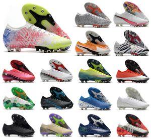 2020 Männer Mercurial XIII Elite AG Nieder 13 Daybreak Safari Flash-purpurnen CR7 Ronaldo Neymar 360 Frauen Junge Fußball-Fußball-Stiefel Schuhe US6.5-11