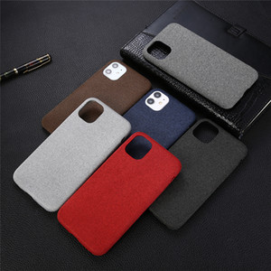 Shockproof Paste Leather Phone Case for iPhone 11 Pro XS Max XR X 8 7 Plus Cloth pattern Business cases