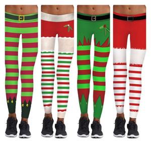 heiße Weihnachtshosen Digitaldruck Stretch dünne Taille Hebt enge Hosen beiläufiger Sport dünnes Yoga Pants Weihnachtsfeier DecorationsT2B5029