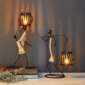 Strongwell Nordic Metal Mum Özet Karakter Heykel Mumluk Dekor El yapımı Figürinleri Ev Dekorasyon Sanat Hediye