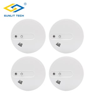4pcs Lot Wifi Wireless High Sensitive Smoke Fire Alarm Sensors Temperature Detector For 433MHz GSM PSTN Home Security System