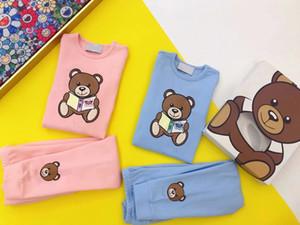 Дети Мальчиков пижама ребенка девочка весны хлопок наборы Дети Homewear Пижама для мальчиков Пижамы Детей Ночного 2-12Y подростковой одежды