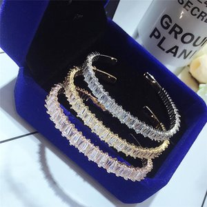 Titanium steel zircon bracelet silver 18k rose gold open bracelet
