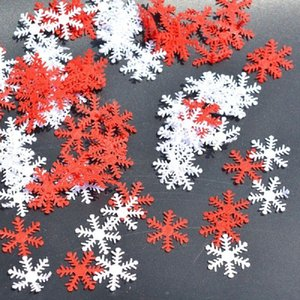 100pcs Snowflakes Christmas Tree Window DIY Hanging Ornaments Non-woven Confetti Xmas Party Home Table Decoration Supplies