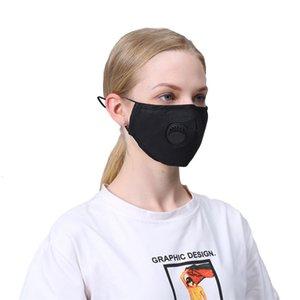 Máscara cobrir a boca da cara PM 2,5 Respirador Dustproof anti-bacteriana lavável reutilizável com Vavle algodão Máscaras 100pcs T1i2233