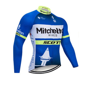 2020 Autumn Men cycling Jersey UAE   Mitchelton Team bike long sleeve shirt breathable quick-dry bicycle clothes sports uniform Y20091604