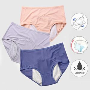 Menstrual bragas de las mujeres atractivas de los pantalones a prueba de fugas Período Incontinencia Ropa interior Prueba calzoncillos de algodón de cintura alta Caliente Mujer 2 / 3PCS