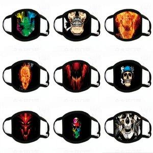 NUOVI adulti Spaventoso alloween Mask decorazioni COS Luminous Latex mascherina mascherine Orror Fa stampa sorseggiare # 600