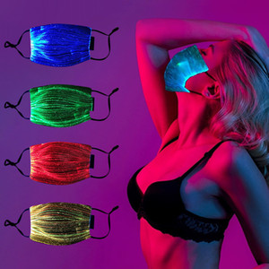 RGB Fashion Glowing face Mask With PM2.5 Filter 7 Colors Luminous LED Face Masks for Christmas Party Festival Masquerade Rave Mask