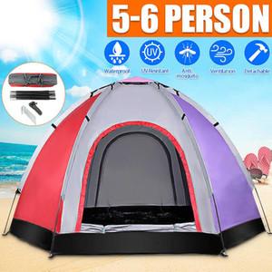 Pops-up Yürüyüş Balıkçılık Kamp Plaj Çadır Fırlatma SGODDE 6 Kişi Açık Otomatik Anında Çadır Su geçirmez Büyük çadırlar Set