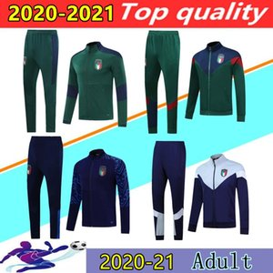 20 21 Italia Veste Football 2020 2021 Survêtement Italie Verratti BELOTTI INSIGNE BERNARDESCHI vestons de formation de football footing chandal