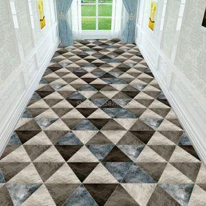 북유럽 현대 꽃 긴 복도 카펫 홈 계단 매트 호텔 통로 / 복도 지역 매트 안티 슬립 욕실 주방 앞에서 바보 vLI3 번호