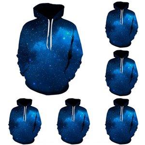 Starry Sky Digital kapüşonlu kazak Beyzbol kıyafeti giymek çift wearlong kollu beyzbol takım çift elbise 12F4p baskılı