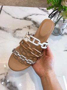 nouvelles chaussures de plage 2020, talons épais, sandales, maillons de chaîne de nez de porc à la mode