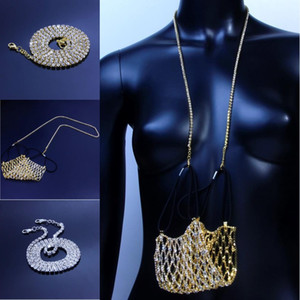 DHL Shipping Hip Hop Bling Chains Jewelry Face Mask Lanyard Diamond Iced Out Tennis Chain Necklace Silver Gold Chain Necklaces X623FZ