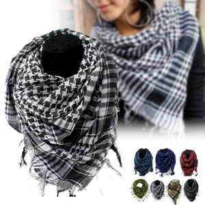 2020 Arab Shemagh Keffiyeh Tactical Palestine Scarf Shawl Kafiya Wrap Hot grid Scarves for female male Birthday's Gift