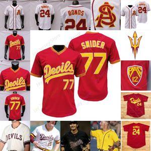 2020 New ASU Arizona State College Baseball Jersey Barry Bonds Reggie Jackson Reggie Jackson Torkelson Drew Swift Hauver Jump Cheema La Flam