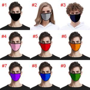 26 Renkler Saf Renk Blank Moda Yüz Çocuklar Anti Toz Ağız Kül Yetişkin Yıkanabilir Yeniden kullanılabilir Yüz Maskeleri Sigara Tek tasarımcı maskeleri Maske