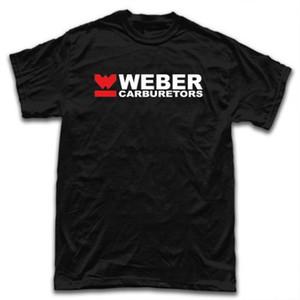 Weber Yarışı Karbüratörler Logo Erkekler Moda Grafik Tee tişört