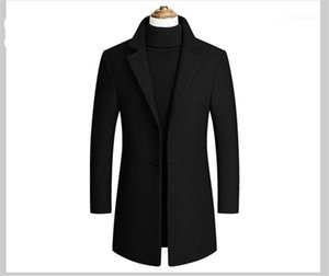 Single Breasted Fashion Solid Lapel Neck Outwear Mens Long Sleeve Trench Coats Spring Autumn Mens Outwear with