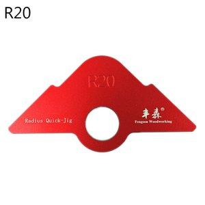 R20 / 30/40 del ajuste de la máquina de grabado Ronda R ángulo de la esquina del arco de enrutamiento Plantilla 24BA