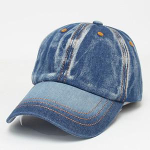 2020 Art und Weise Denimbaseballmütze alten Vintage-Cowboy-Hut einstellbar washed Vintage jean Kappen High Street Zubehör