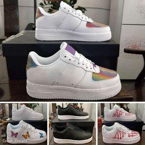 Nike Air Force 1 Высокое качество Мужчины с низким Скейтборд обувь Дешевые One 1 Knit Euro Air High Женщины Forces Все Белый Черный Красный Скидка Тренер Повседневная обувь