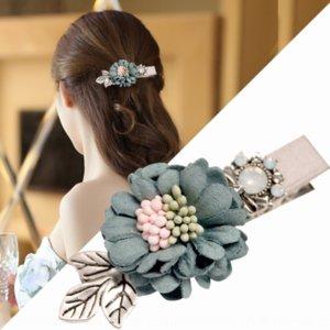 AUflI Ян Юй волос аксессуары челки стороны Корейского стиль трехмерного цветка сладкого утконос голова рыба D0397 Ян Юй рыба рот зажим для волос Fi