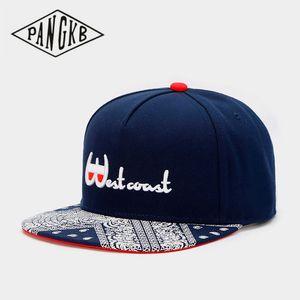 PANGKB Brand WESTCOAST CAP navy Hip-Hop parkour sports snapback hat for men women adult outdoor casual sun baseball cap