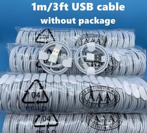 200pcs 7 gerações Original OEM qualidade 1m 3 pés USB telefone Data Sync cabo de carga para 6 7 8 Sem Package