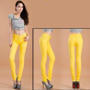 Women's sexy low rise jeans Casual street fashion Bottoms Skinny pants gril elastic Jeans Pencil Pants 20 Color plus size