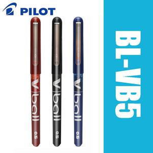 6pcs Pilot V Ball BL-VB5 6pcs lot Pure Liquid Ink Gel Pen Black Blue Super Smooth Writing Supplies