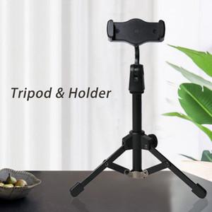Mini Telefone tripé transmissão ao vivo Suporte Microfone Detentor Não-Slip selfie Fotografia Ferramenta
