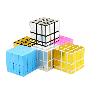 Магия Кубики 3x3x3 Professional Mirror Magic Cast Puzzle Coated Speed Куб игрушка Twist головоломка DIY образование игрушка для детей Волшебного куба