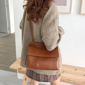 Retro fashion temperament PU flip shoulder bag ins summer Korean version of the new women's bag wild casual Messenger