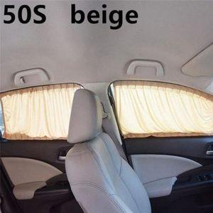 2pcs set car-styling Aluminum Alloy Elastic Car Side Window Sunshade CurtainsNew Auto Windows Curtain Sun Visor Blinds Cover Azpa#