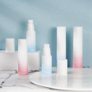 20ml 30ml 50ml white gradient color press-packed plastic emulsion spray airless bottle