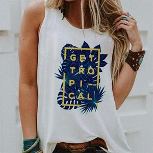 2020 Women Vest Tank Tops Camisole Summer Tropical Wind Print Couple T Shirts Streetwear Harajuku Casual Sleeveless Large Size