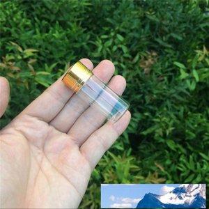 100 Stück 22x55 mm 10 ml Glasfläschchen mit goldenen Schrauben Plastikkappe Transparent Wesentlichen Glasphiolen