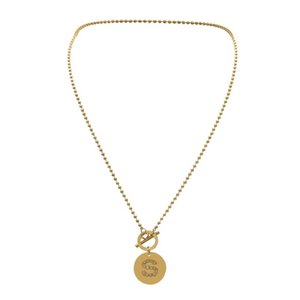 Fashion Tiny Round Dainty Initial Stainless Steel Necklace Gold Color Letter S Choker Necklace For Women Pendant Jewelry