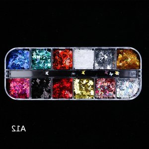 Butterfly Nail art Sequins Holographic 3D Flakes Nail Art Decorations Stickers Mixed color Laser Magic Sparkly Accessories Glitter Decals
