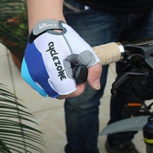 Guantes de bicicleta de microfibra de bicicletas antideslizante Breat gimnasio al aire libre ligero antideslizante -absorbing fitness