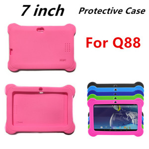 Soft Silicone Silcion Case Protective Cover Rubber For 7 Inch Q88 A13 A23 A33 Tablet PC MID Colorful cover