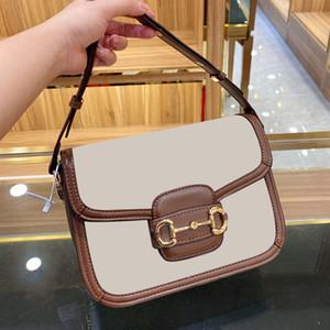 In pelle marrone Vintage Gambe di Tofu borse di lusso spalla femminile Crossbody Borse con la serratura per le donne stilista borse Saddle Bag