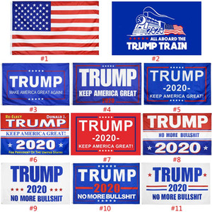 11 Styles Trump Flags 3 * 5 ft US-Präsident Donald Trump Flag Keep America Große Banner amerikanischen General Election Supplies