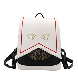 Kızlar mochila X0923 için Kadınlar Sırt Çantası Sıcak Satış Moda İşlemeli kanatları Yüksek Kalite dişi omuz çantası PU Deri Sırt