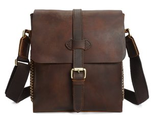 2018 Fashion Cowhide Genuine Leather Men Bag Business Shoulder Bags For Men High Quality Real Cow Male Handbags Laptop Briefcase